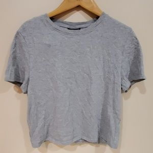 Topshop Plain Grey Crop Top US 10